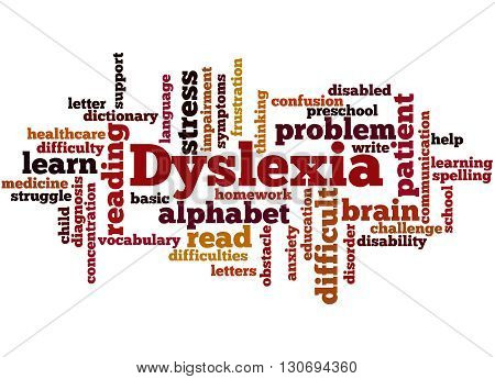 Dyslexia, Word Cloud Concept 5