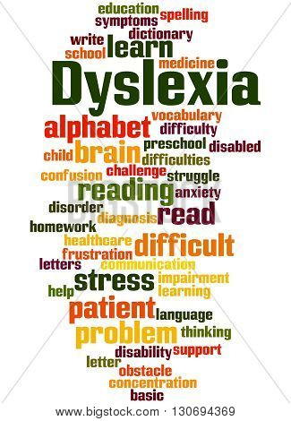 Dyslexia, Word Cloud Concept 6