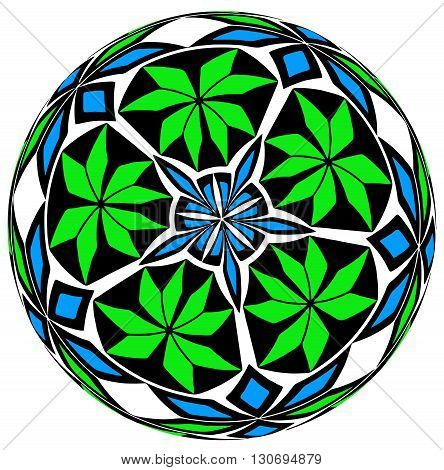 geometrical ornament in a circle on the Arab motives