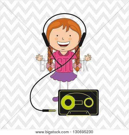 Children and technology design, vector illustration eps10 graphic