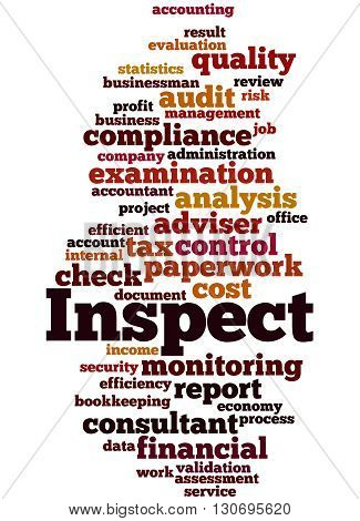 Inspect, Word Cloud Concept 4