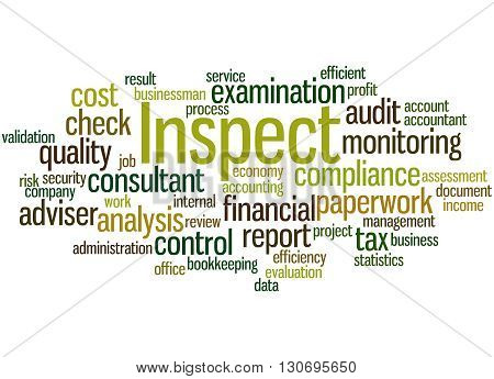 Inspect, Word Cloud Concept 5