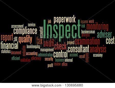 Inspect, Word Cloud Concept 6