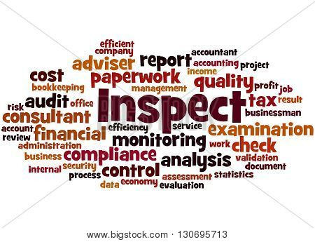 Inspect, Word Cloud Concept 8