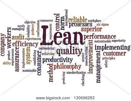Lean - Management Approach, Word Cloud Concept