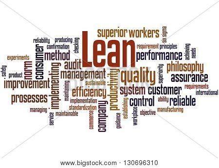 Lean - Management Approach, Word Cloud Concept 3