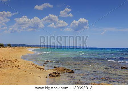 The most beautiful sandy beaches of Apulia. ITALY(SALENTO).