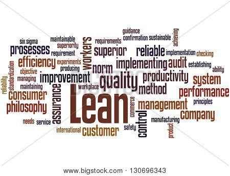 Lean - Management Approach, Word Cloud Concept 5