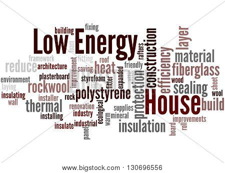 Low Energy House, Word Cloud Concept 8