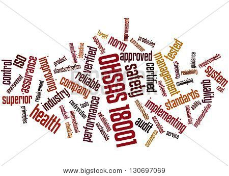 Ohsas 18001 - Health And Safety, Word Cloud Concept 4