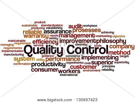 Quality Control, Word Cloud Concept