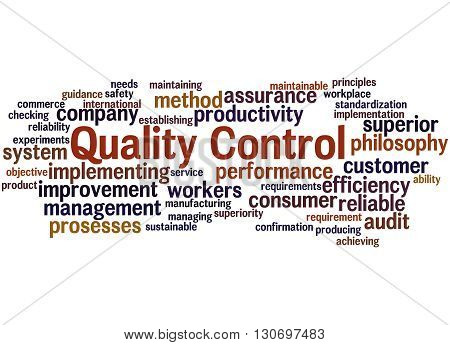 Quality Control, Word Cloud Concept 5