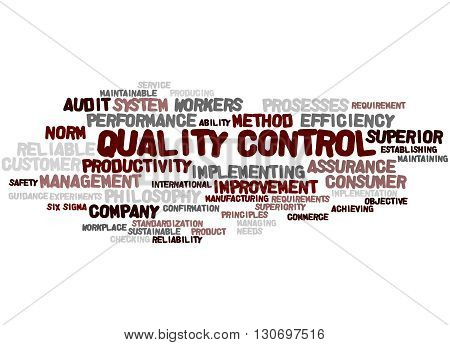 Quality Control, Word Cloud Concept 7