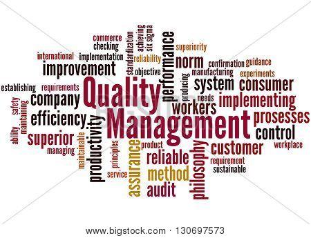 Quality Management, Word Cloud Concept 3