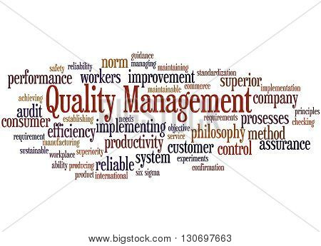 Quality Management, Word Cloud Concept 9