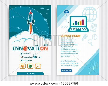 Project Innovation Concepts And Set Of Banners.