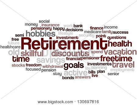 Retirement, Word Cloud Concept