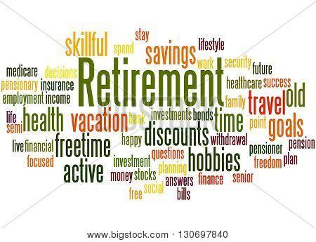 Retirement, Word Cloud Concept 3