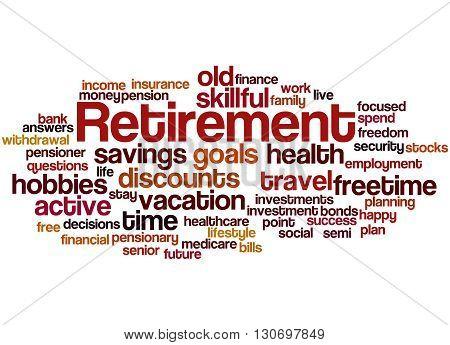 Retirement, Word Cloud Concept 4