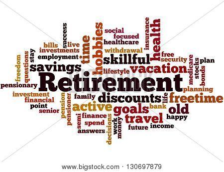 Retirement, Word Cloud Concept 7