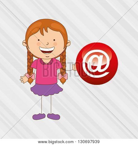 Children and technology design, vector illustration eps10 graphic