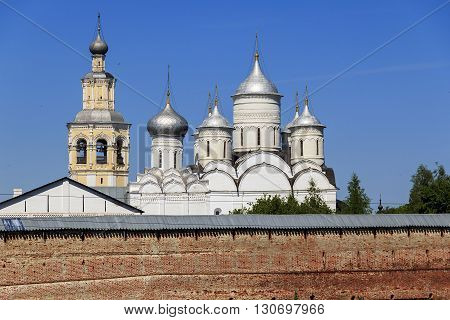 Vologda, Russia - May 29: This is the main church building of the ancient Russian monastery May 29, 2013 in Vologda, Russia.