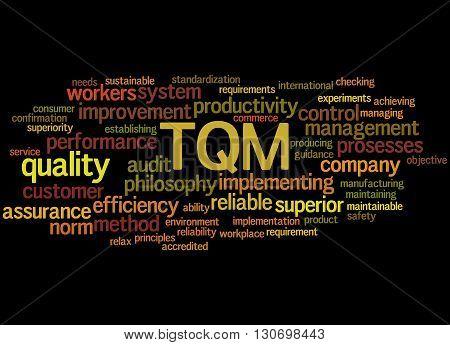 Tqm - Total Quality Management, Word Cloud Concept 5