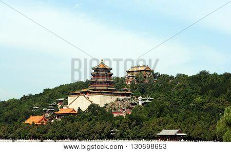 Summer Palace. Longevity Hill in Beijing. China