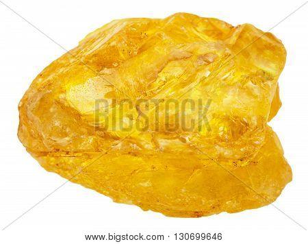 Native Sulfur ( Sulphur) Stone Isolated
