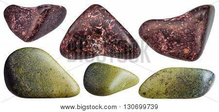 Piemontite (manganepidot) And Epidote Gemstones