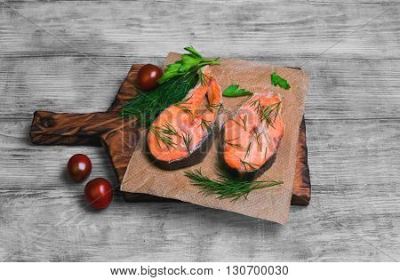 Steaks Salmon Fish