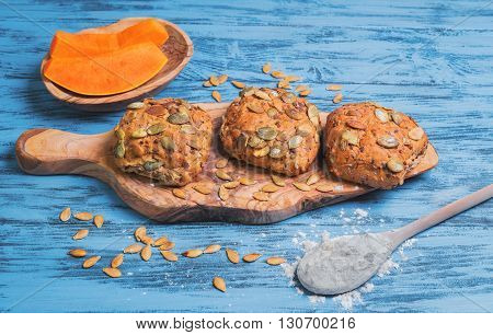 Pumpkin Round Small Bread Buns