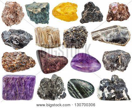 Mineral Stones - Charoite, Mica, Phlogopite, Etc
