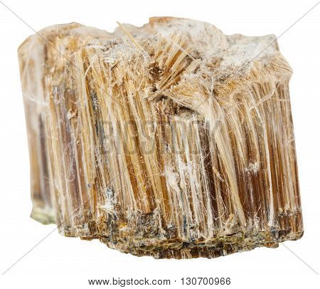 Specimen Of Brown Asbestos Isolated On White