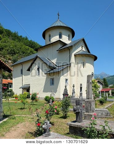 Moraca Monastery founded in 1252 by Stefan Vukanovic, Montenegro