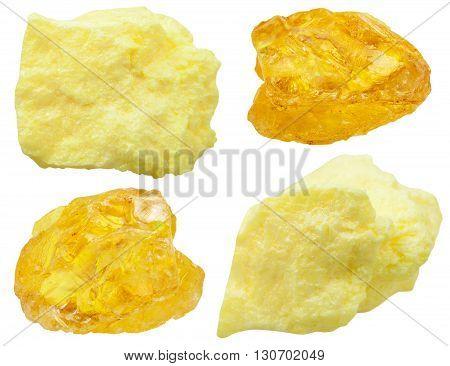 Specimens Of Native Sulfur ( Sulphur) Stones