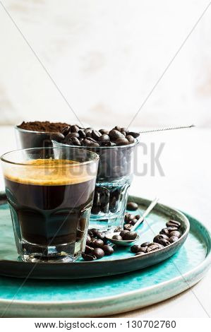 Coffee Time On Rustic Background
