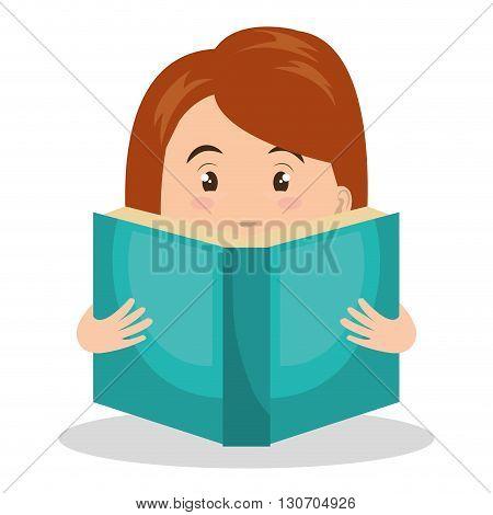 person reading design, vector illustration eps10 graphic