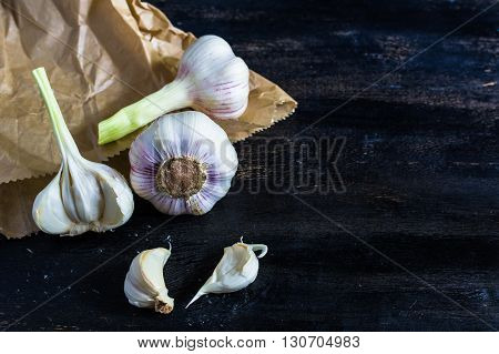 Cooking Concept With Garlic