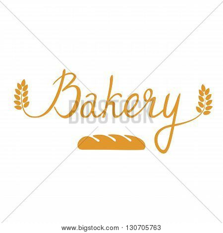 Bakery. Original handwritten. Can be used for flyers posters and promo. Vector.