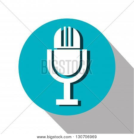 microphone icon design, vector illustration eps10 graphic