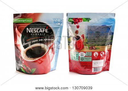 Kiev, Ukraine - April 28, 2016: Nescafe is a brand multinational food and beverage company, first introduced on April 1, 1938.