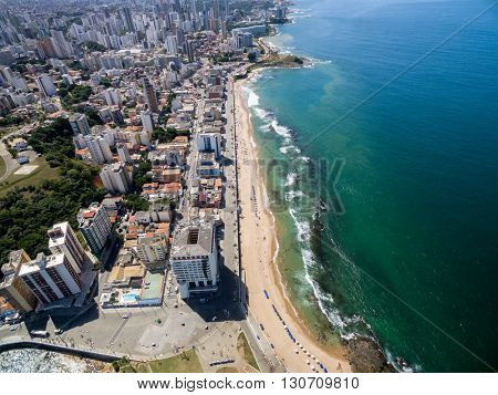 Aerial View of Porto da Barra Beach, Bahia, Brazil