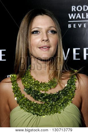 Drew Barrymore at the Rodeo Drive Walk Of Style Award honoring Gianni and Donatella Versace held at the Beverly Hills City Hall in Beverly Hills, USA on February 8, 2007.