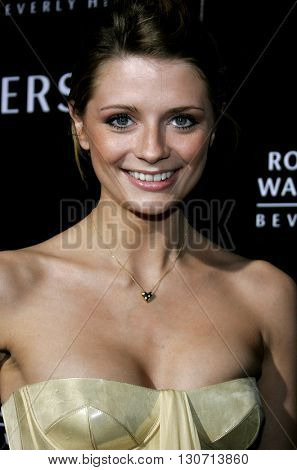 Mischa Barton at the Rodeo Drive Walk Of Style Award honoring Gianni and Donatella Versace held at the Beverly Hills City Hall in Beverly Hills, USA on February 8, 2007.