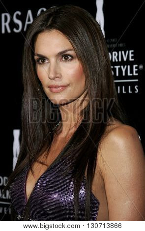 Cindy Crawford at the Rodeo Drive Walk Of Style Award honoring Gianni and Donatella Versace held at the Beverly Hills City Hall in Beverly Hills, USA on February 8, 2007.