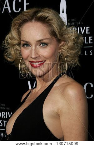 Sharon Stone at the Rodeo Drive Walk Of Style Award honoring Gianni and Donatella Versace held at the Beverly Hills City Hall in Beverly Hills, USA on February 8, 2007.