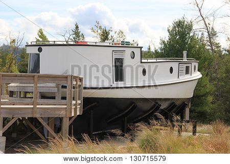 old fish tug at Glen Haven, Sleeping Bear Dunes Lakeshore, Michigan