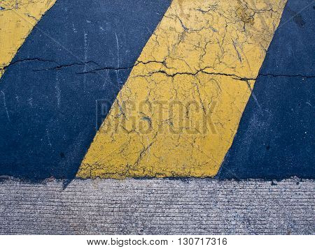 Blue & Yellow Color sign of  Speed hump