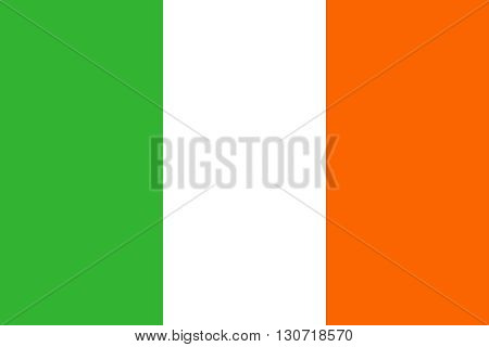 Flag of Ireland. Republic of Ireland flag vector illustration.
